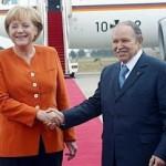 Angela Merkel este in vizita la Alger