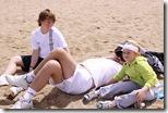 cu copiii la plaja