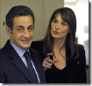 Sarcozy and Carla Bruni
