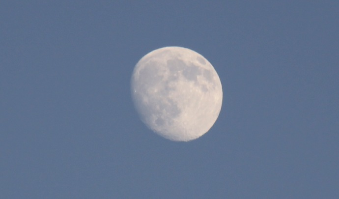 Luna pe timp de zi