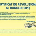 Mi-am tras certificat de revolutionar al bunului simt!