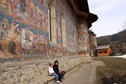 pictura exterioara la manastirea moldovita