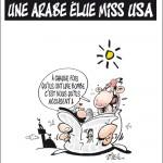 Caricatura zilei – Miss USA, bomba de origine araba