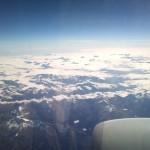 Peisaje din Alpi fotografiate din avion