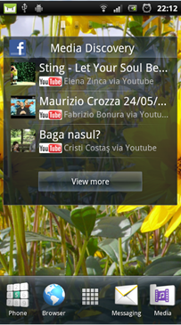 Media Discovery widget