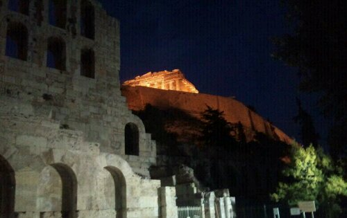 Acropolis noaptea