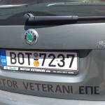 Numere de masini la greci