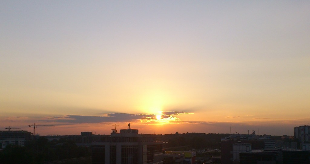 apus de soare in belgrad