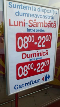 Program Carrefour Baneasa