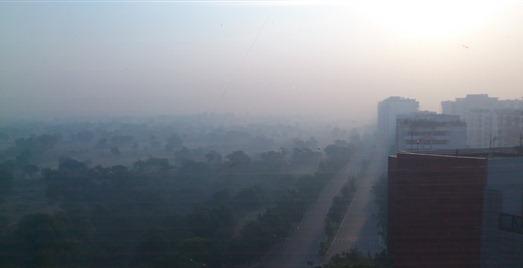 morning fog in Delhi