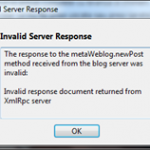 Invalid Server Response – eroare Windows Live Writer
