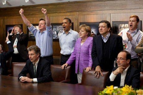 Angela Merkel, Cameron si Obama