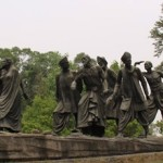 Gandhi statue of the Salt March of 1930 in Delhi