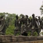 Gandhi statue of the Salt March of 1930 in Delhi