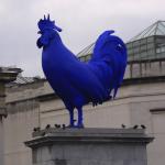 Cocos albastru in Trafalgar square