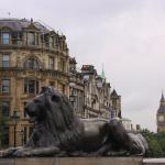 Big Ben vazut din Trafalgar square