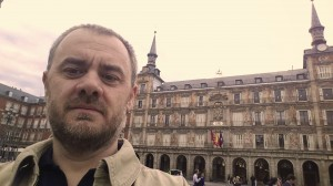 Selfie in Plaza Mayor (Madrid)
