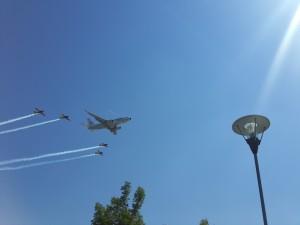 Avioane in formatie