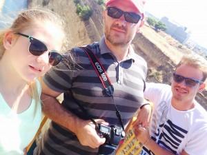 Selfie peste canalul Corint